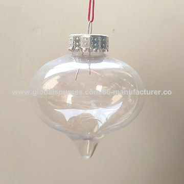China Promotion clear special shape PET onion for Christmas tree decoration & ornament ...