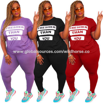 China Women S 2 Pcs Plus Size Tracksuit Sets Sweatsuits Outfits Hoodie Sweatshirt And Jogging Sweatpants On Global Sources Sweatsuits Tacksuits Sportwear