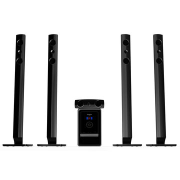 5 1 channel sea piano home theatre system with usb sd interface fm