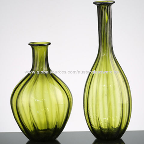 home goods decorative vases.htm china hand made mouth blown art green bud glass vases  decorative  mouth blown art green bud glass vases