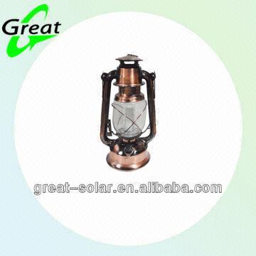 noble bright metal hurricane lantern solar garden light global sources