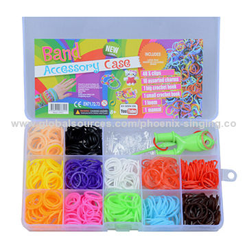 2014 Hot Crazy Loom Kits Rubber Bands Bracelet Diy Refills Children
