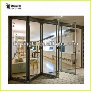 ... China Aluminum Folding Door Design Interior Glass Bifol
