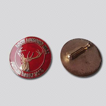 Custom Shape Lapel Pins, Soft Enamel, with Epoxy Dome, Gold Plated