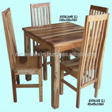 Wooden Square Dining Table Set Dining Room Furniture Chair Hotel