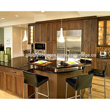 Walnut Kitchen Cabinet Shaker Doors Modern Design Global Sources