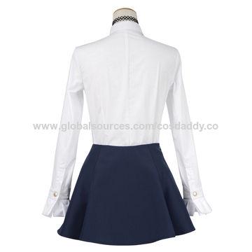 1e2b1aaf4cd China Girls' Blue School Uniform China Girls' Blue School Uniform ...
