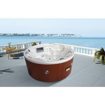 Monalisa round outdoor spa whirlpool/spa hot tub massage/bath tub ...