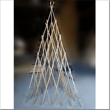 China Bamboo Pyramid Trellis For Gardening