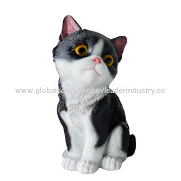 Ordinaire New Polyresin Lovely Black Cat Statue China New Polyresin Lovely Black Cat  Statue