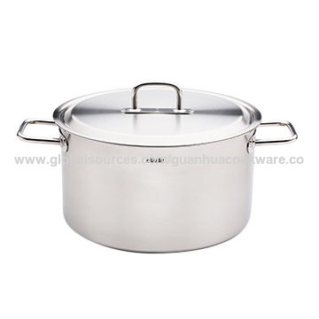 China Ceroles Stainless Steel Cookware With Elegant Flat