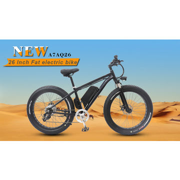 China New 26*4.0-inch fat tire beach snow electric mountain bike