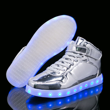 High To Help Casual Shoes Led Colorful Led Light Shoes Usb Rechargeable Shoes Wholesale Men's Casual Shoes