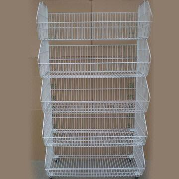Beau China Japanese Wire Mesh Storage Movable Tilted Basket With 5 Layers