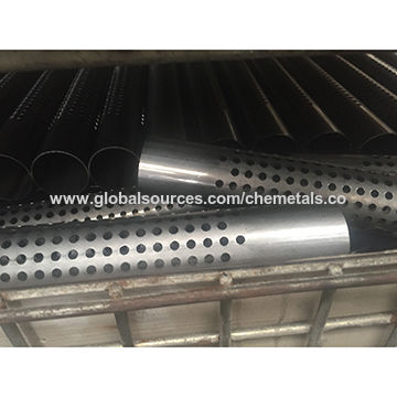 China Stainless steel perforated pipe, SUH409L 45X1 0X289