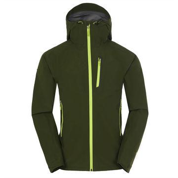 China Ski clothing design men's waterproof softshell jacket fold away hood wholesale