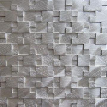 China Mosaic Tiles Random Brushed Aluminum
