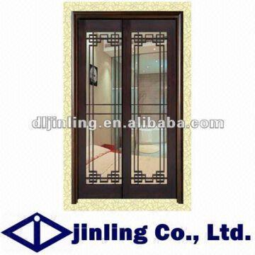 Classic Wooden Bedroom Decorative Sliding Door Grill Design Security