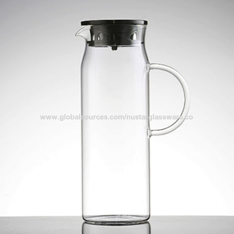 82756ccd3ec China Large water pitcher made of borosilicate glass with silicone ...