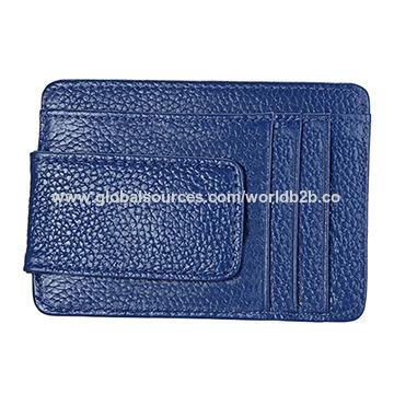 a5deb786f64db China Custom Rfid Silm Magnetic Leather Money Clip Wallet Luxury ...