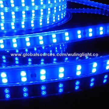 China Smd5050 Sanan Chip 120l Per Meter Blue Color Flexible Led Strip Light
