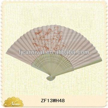 Customized Design Bamboo Craft Fan For Gift Bamboo Folding Fan