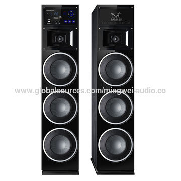 China Guangzhou factory supply 3 big bass 2.0 active Bluetooth speaker system with LED light