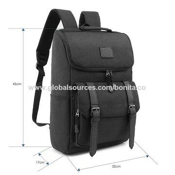 8d338e7b76f5 ... China Weekend Shopper Lightweight Canvas Backpack Black Laptop Bookbag  College backpack Vintage Backpack ...
