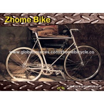 China Bicycle Parts/Bicycle Frames, Lugged Tube Cromoly Steel 4130 Bike Frame and Fork
