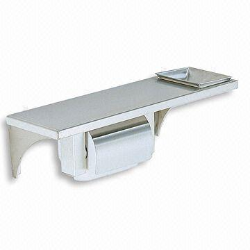 Wall mounted 1 Roll Toilet Paper Holder Shelf and Ashtray Made