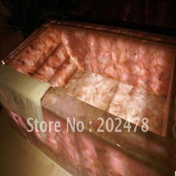 China Natural Rose Quartz Bathtub