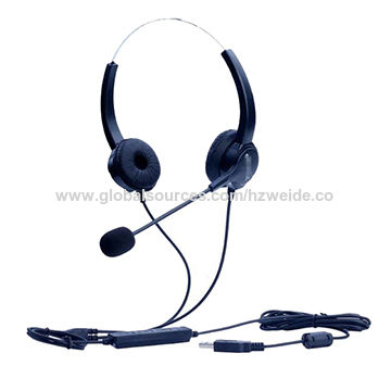 0cc9e20e2e1 China Regular Desk Phones Headset, PC Hands-free Noise Cancelling Binaural Call  Center Headphone