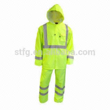 rain coat and pant set reflective raincoat with reflective strips ...