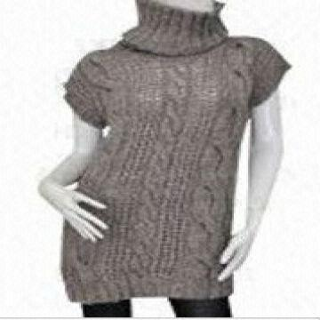 China hand knit grey latest design woolen ladies Sweater 3e1d447e3
