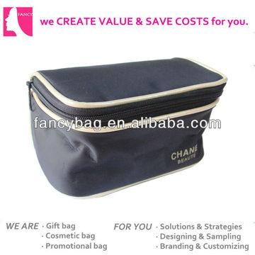 Product Categories > Cosmetic bag - Black Microfiber Cosmetic Bag