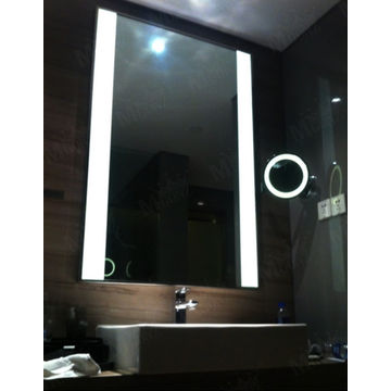China MGONZ Led Backlight Anti Fog Bathroom Mirror Recta