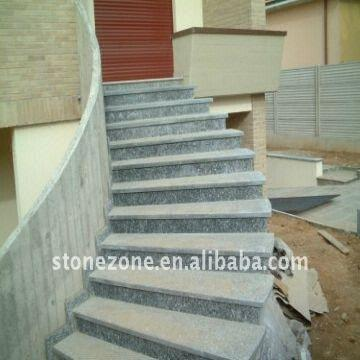 China Outdoor Grey Natural Granite Stair Strips