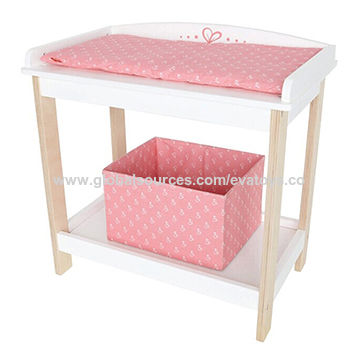 China Hot Selling Pretend Play Wooden Doll Bunk Bed With Storage Box