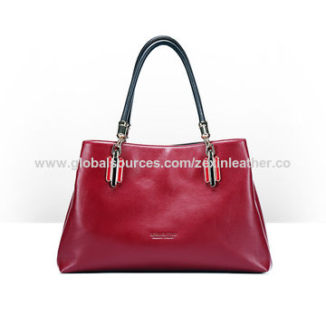 86bb176471 China Lady handbag new trend wholesale red color ladies bags fashion pu  leather women handbags( ...