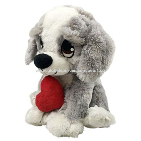 China Valentine S Day Gifts Wholesale Black Lifelike Plush Dog With