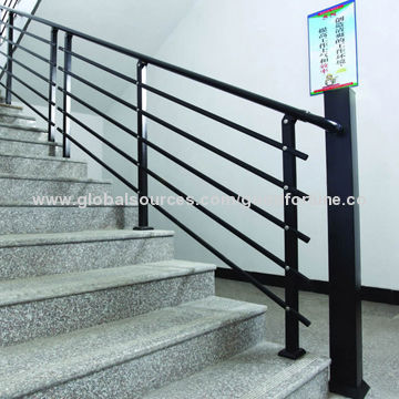 China Solid And Economical Hot Dip Zinc Steel Staircase Railing