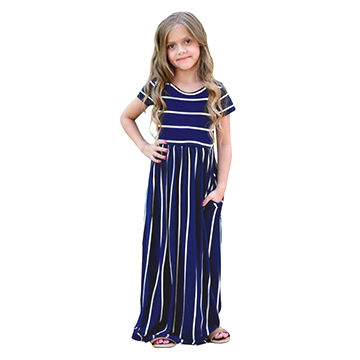 Outfits & Sets Baby & Toddler Clothing Kids Girls Summer Dress Girls O-neck Sleeveless Floral Print A-line Dresses Dependable Performance