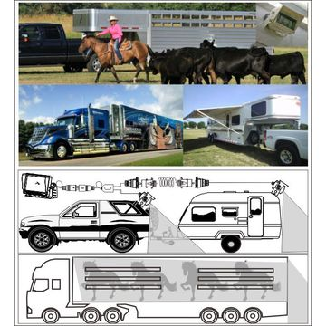 Car rear-view systems for horse trailer rear view system