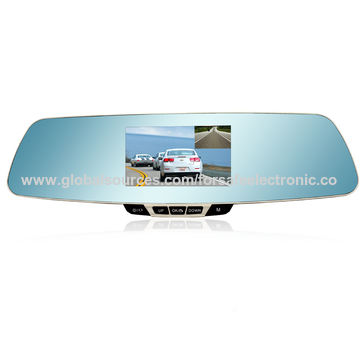 China Rear View Mirror Monitor with Built-in DVR, Full HD Camera