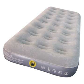 single flocked airbed camping mattress