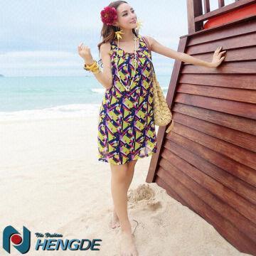Sd140 Cheap Wholesale Lady Beach Fashion Plus Size Dress Global