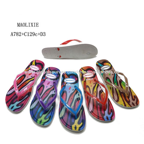b688314d2 China Hot selling bling bling style ladies pcu slippers wholesale cheaper  price flip flop ...