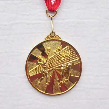 China custom gold medals from suzhou manufacturer kunshan anti gift china custom gold medals with ribbon for tennissports awardno moqfree mozeypictures Image collections