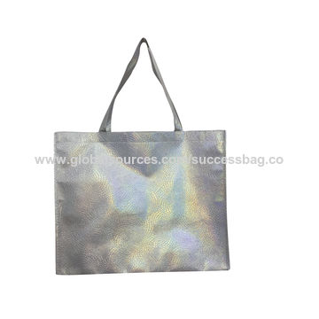 China Promotianla Eco Friendly Shopping Bags Made Of Non Woven With Laser Printing