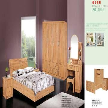 Wooden Bedroom Set Bed Wardrobe Dresser Night Table
